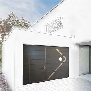 porte garage sectionnelle portillon